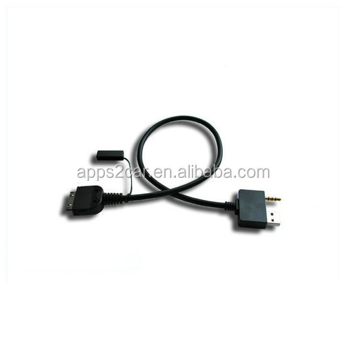 Apps2car Car Music Interface Cable,USB & 3.5mm AUX For iPod iPhone iPad Cable For Hyundai Kia