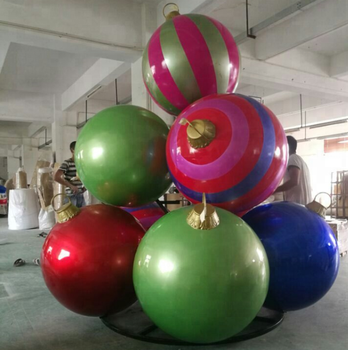 hand made big size Christmas decorative ball set with stand