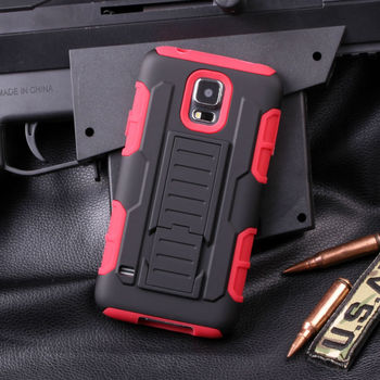2015 New Arrival!Future Armor Holster Rugged Hybrid Hard Stand Case For Samsung Galaxy S5 I9600 Cell Phone Case