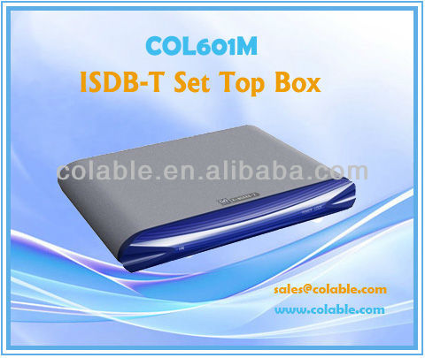 tv converter box,STB, tv box,ISDB-T Set Top Box COL601M
