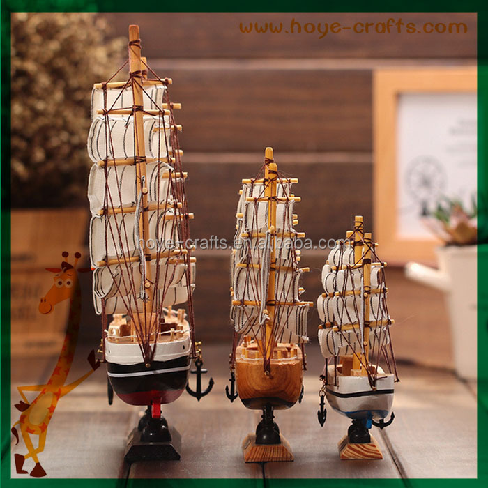 Wholesale Old Ship Home Decor Wood Model