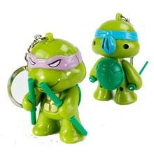 TMNT teenage mutant ninja turtles LED luminous voice keychain ring set 2016 New TMNT Tee figurine