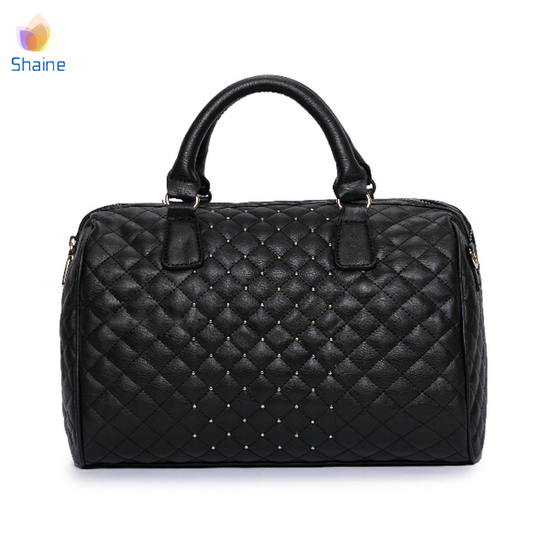 31df321ae4 2015 MANGO brand Vintage Pillow bag tote Mng HandBag PU Leather Women  Bucket Rivet shoulder bag