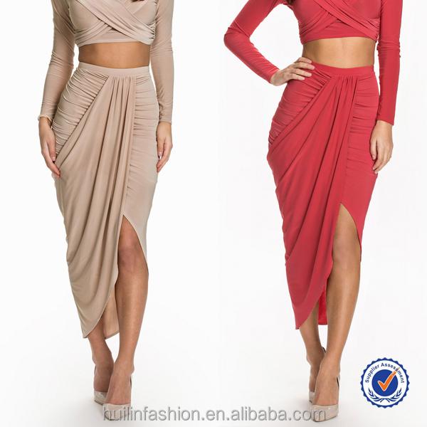 05fea94c2 Últimas imágenes de diseño falda faldas largas al por mayor asimétrica ...