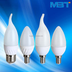 Ce ROHS E14 E27 Dimmable LED Candle light, C37 3 w 4 w 5 w 6 w LED bougie ampoule, Bougie LED lumière Alibaba chine