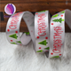 Christmas gift wrap ribbon,5/8inch with single-side printed christmas tree,25yards / roll.