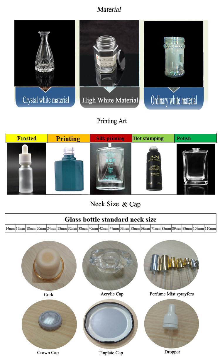 100ml clear half round shape glass perfume bottle for sale
