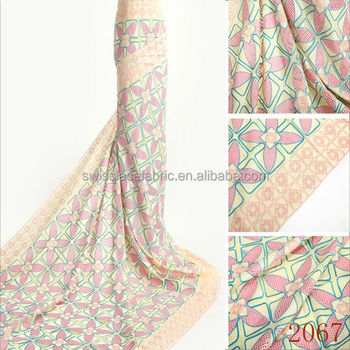 Plain Color Swiss Voile Lace African Lace Fabric Allover Holes ...
