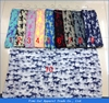 long very soft womens voile Snood lady circle Print animal horse cotton loop infinity scarf