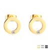 Simple Design Round Circle Ear Stud Earring Fashion Gold Earring For Girl
