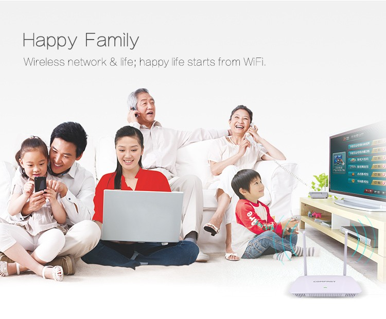 Cheap Price of COMFAST CF-WR625N 300Mbps SOHO Wireless Router/Home Wireless Router/2.4GHz WiFi Router