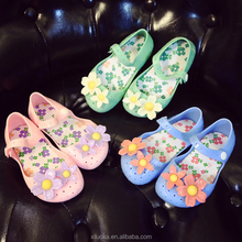 Mini melissa flowers children shoes jelly shoes soft girls sandals baby casual shoes