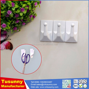 hot selling plastic wall hook/adhesive removable towel hook