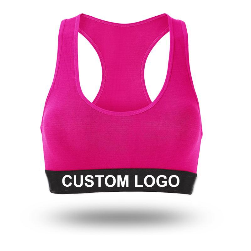 Fitness Dames Meisjes Running Gym Yoga Beha Tops Custom Logo Crane Oefening Workout Vrouwen Sportbeha