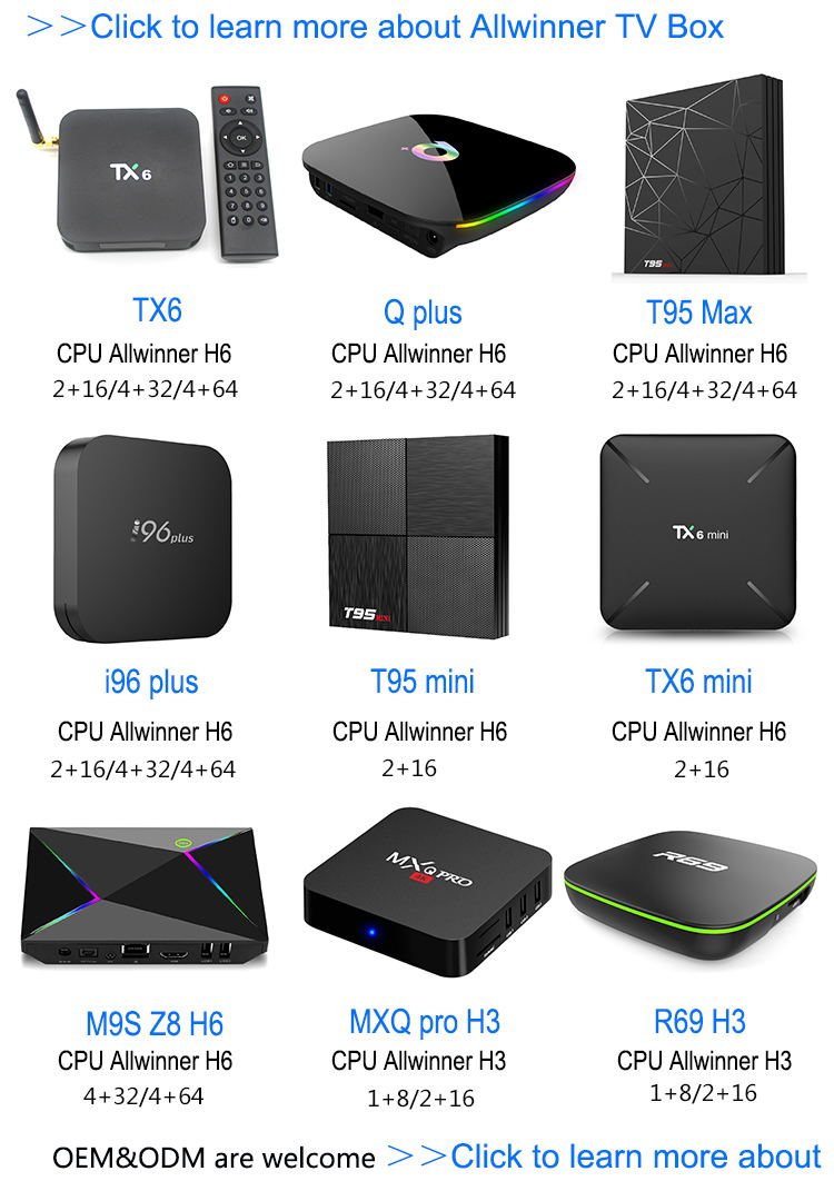 Hot Design Q plus 4gb 32gb Smarter faster more powerful Allwinner h6 android 8.1 super set up tv box