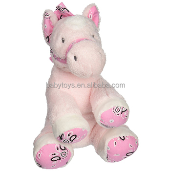 Pink Horse Plush Soft Toys Stuffed Animals Blue Horses Dolls Kids