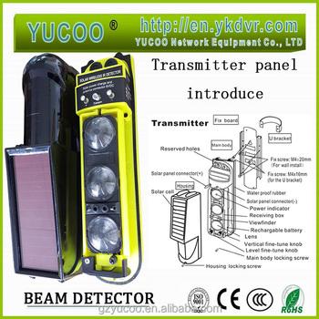 Active Infrared Beam Interruption Detector/wireless Solar Power ...