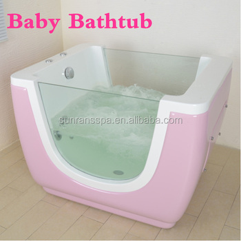 CE ROHS Approval Color Pink Baby Fiberglass Bathtub