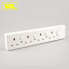 WK 13A 4 Gang Switched Extension Socket with UK Fused Plug + Individual Switch & Neon