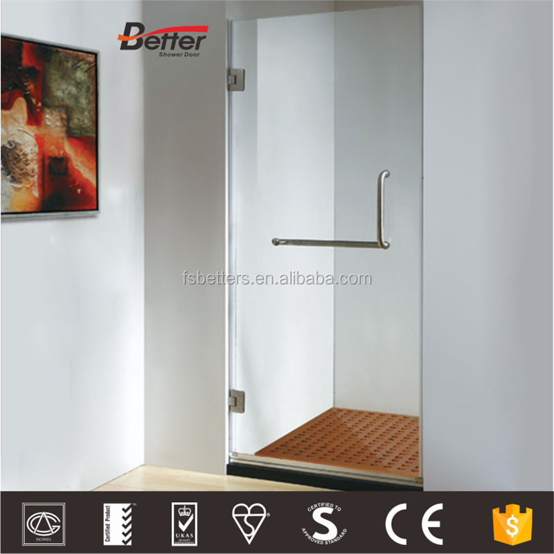 Frameless bifold easy cleaning glass rotating hinged shower door