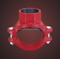 Galvanised Grooved equal teefitting Suitable For Fire Fighting Systems long radious 2''60.3
