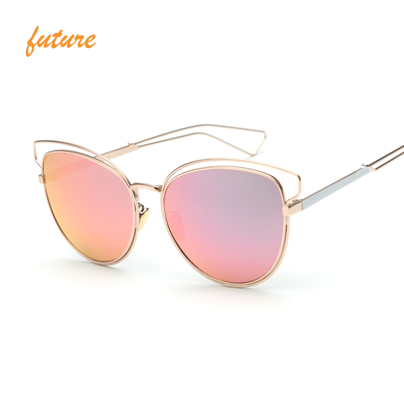 Women's Sunglasses Feidu 2016 Alloy Cat Eye Sunglasses Women Brand Designer Coating Flat Lens Sun Glasses For Women Driving Oculos De Sol Feminino Women's Glasses