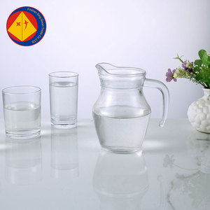 Wholesale for hotel 0.5L 500ml juice hot cold water glass jug with lid