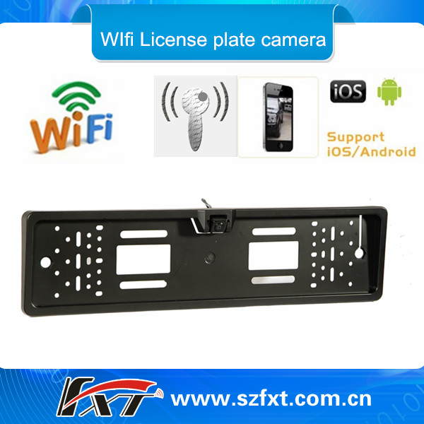 Wiring Free Wifi Car License Plate Camera Support Iphone Ipad Android,Universal Rainproof 150m Range Wifi Rear View Camera