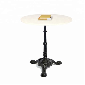 Heavy Weight Low Profile Powder Coated Cast Iron Coffee Table With Special  3 Foot Base