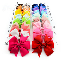 Wholesale Price Hair Accessories Monogrammed Ribbon Hair Bows for Girls