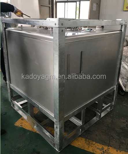 1000l stainless steel ibc tote tank 1000l for liquid storage or transport
