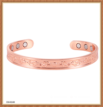 High quality Ladies or Mens magnetic therapy jewelry elegant magnetic copper bangle open end design