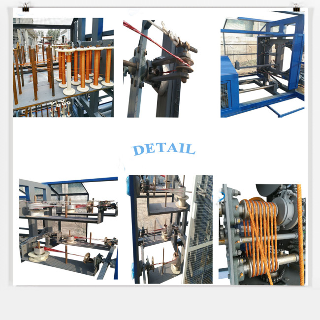 3 strands automatic high quality plastic jute pet pp nylon rope making machine for sale