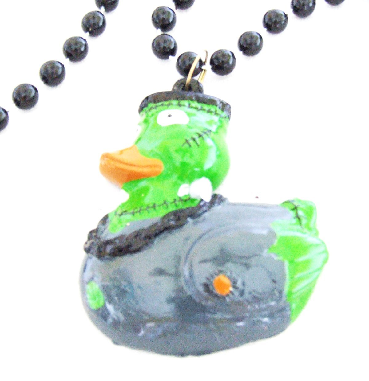 Frankenstein Duck Halloween Bead Necklace New Orleans Beads Party Mardi Gras Monster