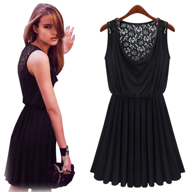 Get Quotations · Cute Dresses Cheap 2015 Vestido De Renda Summer Style  Lolita Dress Women Black Party Desigual Plus 30e365eb60a9