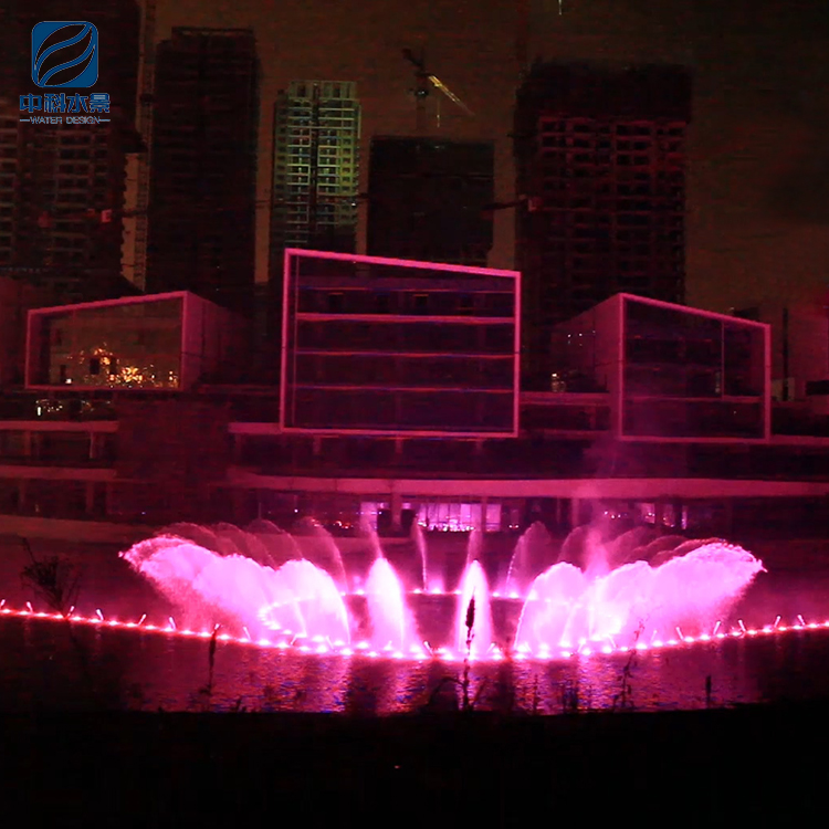 Large outdoor intelligent control system musical water led light music fountain project