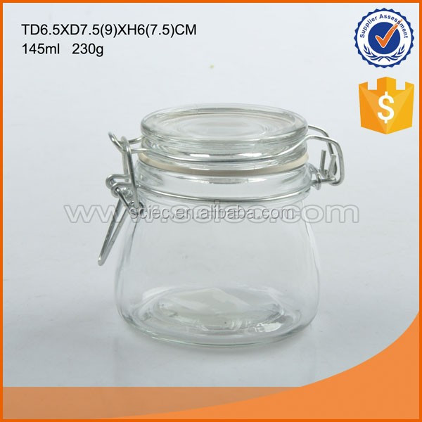 High quality mini wedding favor glass candy jar made in china