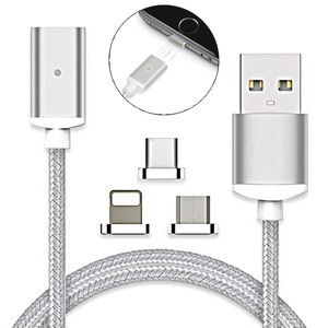 3 in 1 Metal Magnetic USB Charging Cable for Mobile Phone