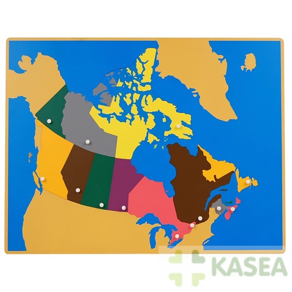 Montessori Geography wooden materials Puzzle Map of Canada