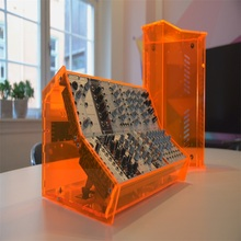 Laser Cut Acrylic Eurorack Kasus Fluorescent <span class=keywords><strong>Orange</strong></span> Plexiglass A-100 DIY Kit