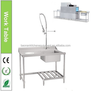 Stainless Steel Dish Washing Work Sink Table For Dishwasher View - Stainless steel dishwasher table