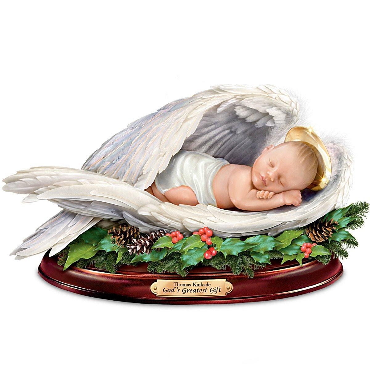 Thomas Kinkade Unto Us A Child is Born Sculpture by The Bradford Exchange Sculpture
