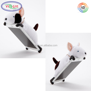F286 Mobile Phone Bags Cell Cover Stuffed Animal Bull Terrier Animal Cell Phone Case