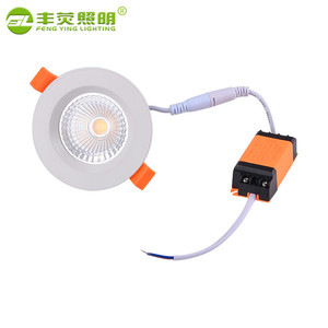 High Lumens chinese supplier classic recessed 7w 12v cob led ceiling spotlight downlight
