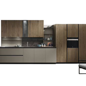Wood kitchen unit furniture kitchen cabinet MDF door