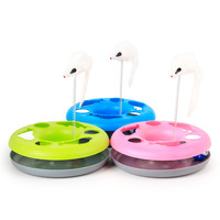 Mice Crazy Amusement Multifunctional Disk Play Funny Activity Interactive Mouse Cat Toy