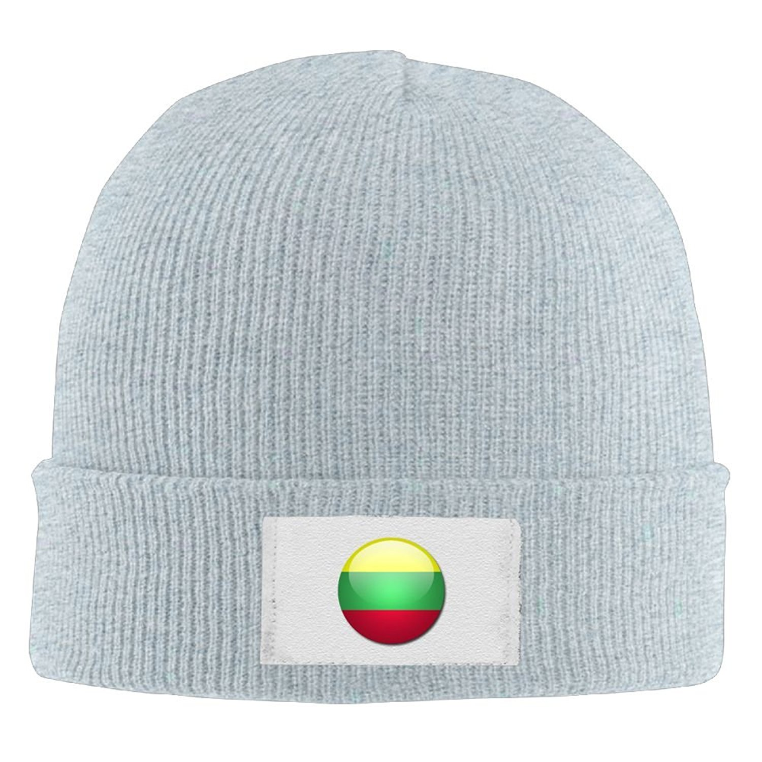 Get Quotations · WKPJJDBD0 BNM01KZI Men   Women Cap Flag Of Lithuania Warm  Hiking Warm Knit Beanie Skull Cap 0d6e2b304f73