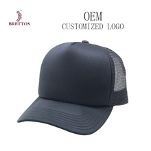 Promotion Cheap 5 Panel Plain Custom Black Blank Trucker Cap