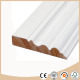 White primed wooden wall timber trim board