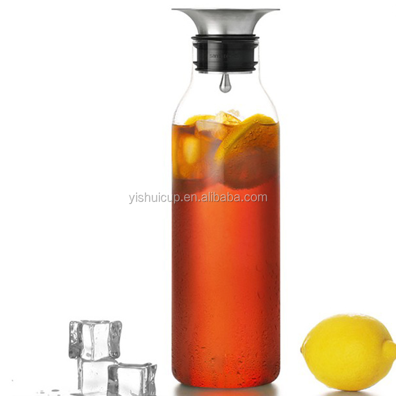 Wholesale bpa free new hot selling the heat resistant glass pitcher with ss lids buy heat - Heat proof glass pitcher ...